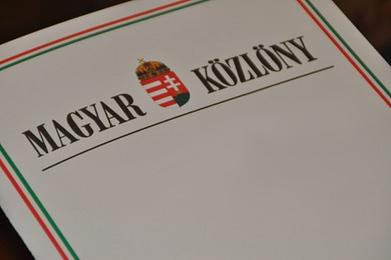 Image result for magyar közlöny