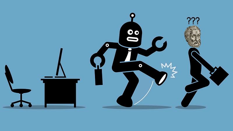 Vicces, szerkesztett rajz. Egy robot jogász fenékbe rúgja Ulpianust, aki az egészből nem ért semmit